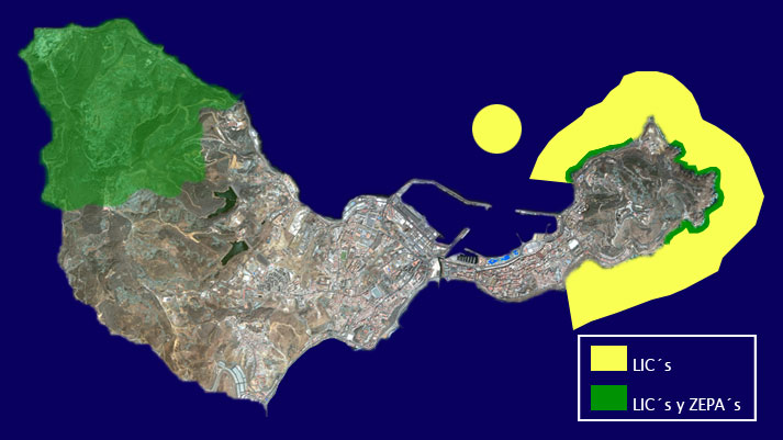 Zonas Natura 2000 en Ceuta